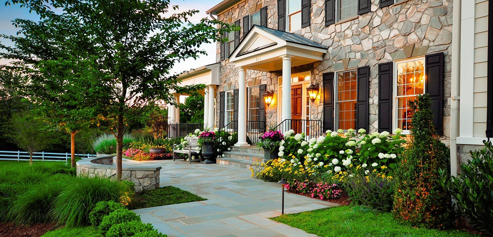 22 Most Beautiful Front Yard Landscaping Designs & Ideas ... on Home Backyard Ideas id=16811
