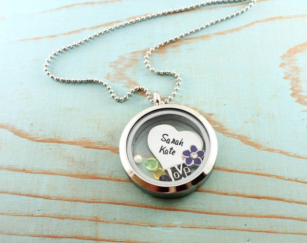 Personalised Floating Necklace Locket
