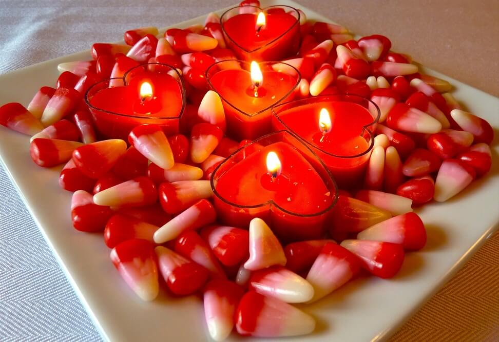 Stacked Heart Candles