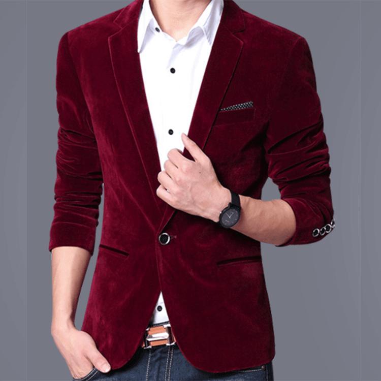 Blazer in Velvet Fabric
