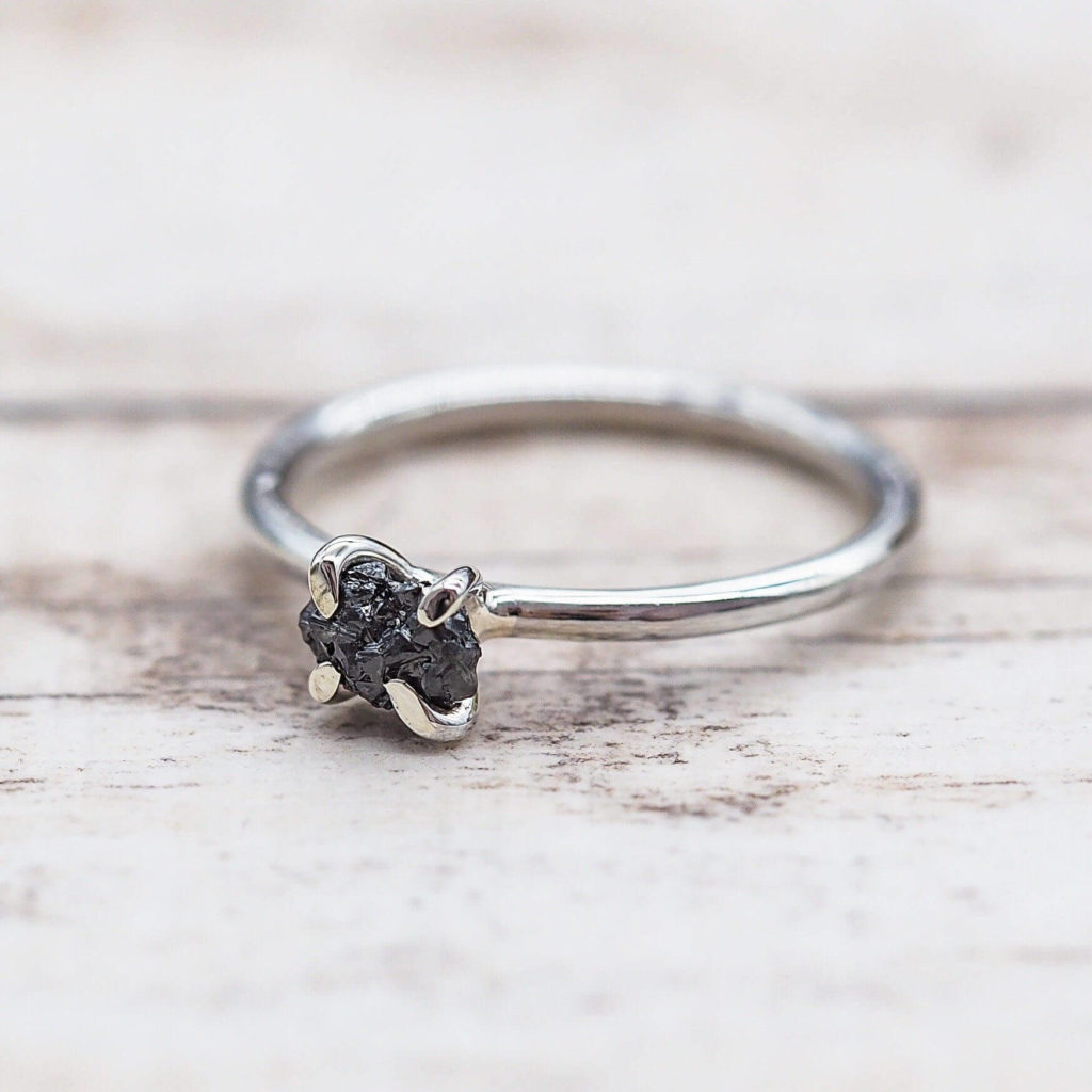 Bohemian Style Black Diamond Rings