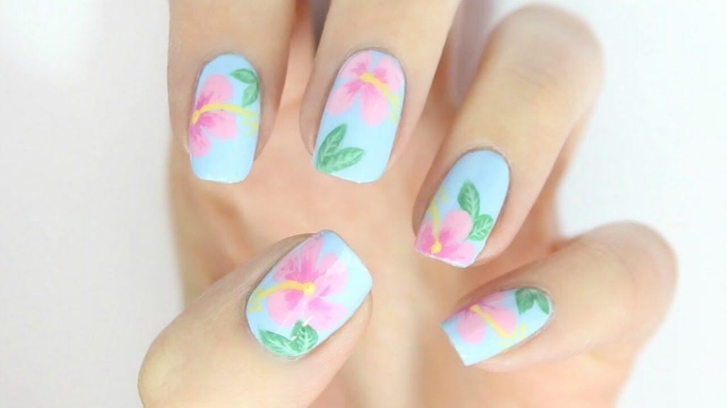 Hibiscus Nail Art