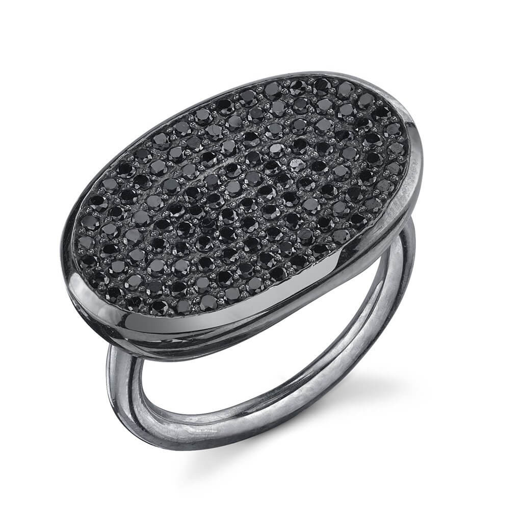 Pave Black Diamonds Ring