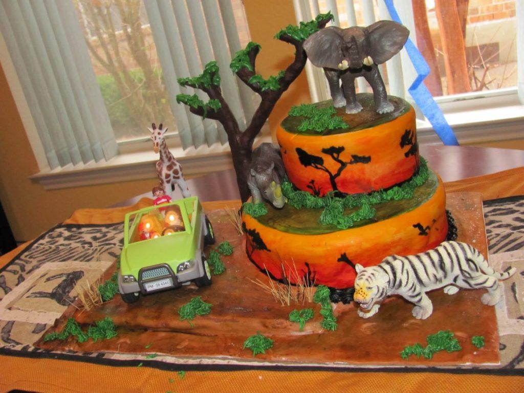 Safari Themed Animal Cake