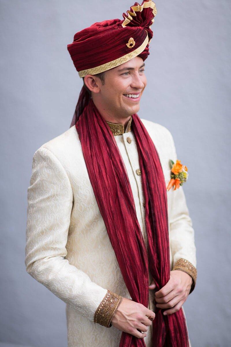 Traditional Sherwani With Turban