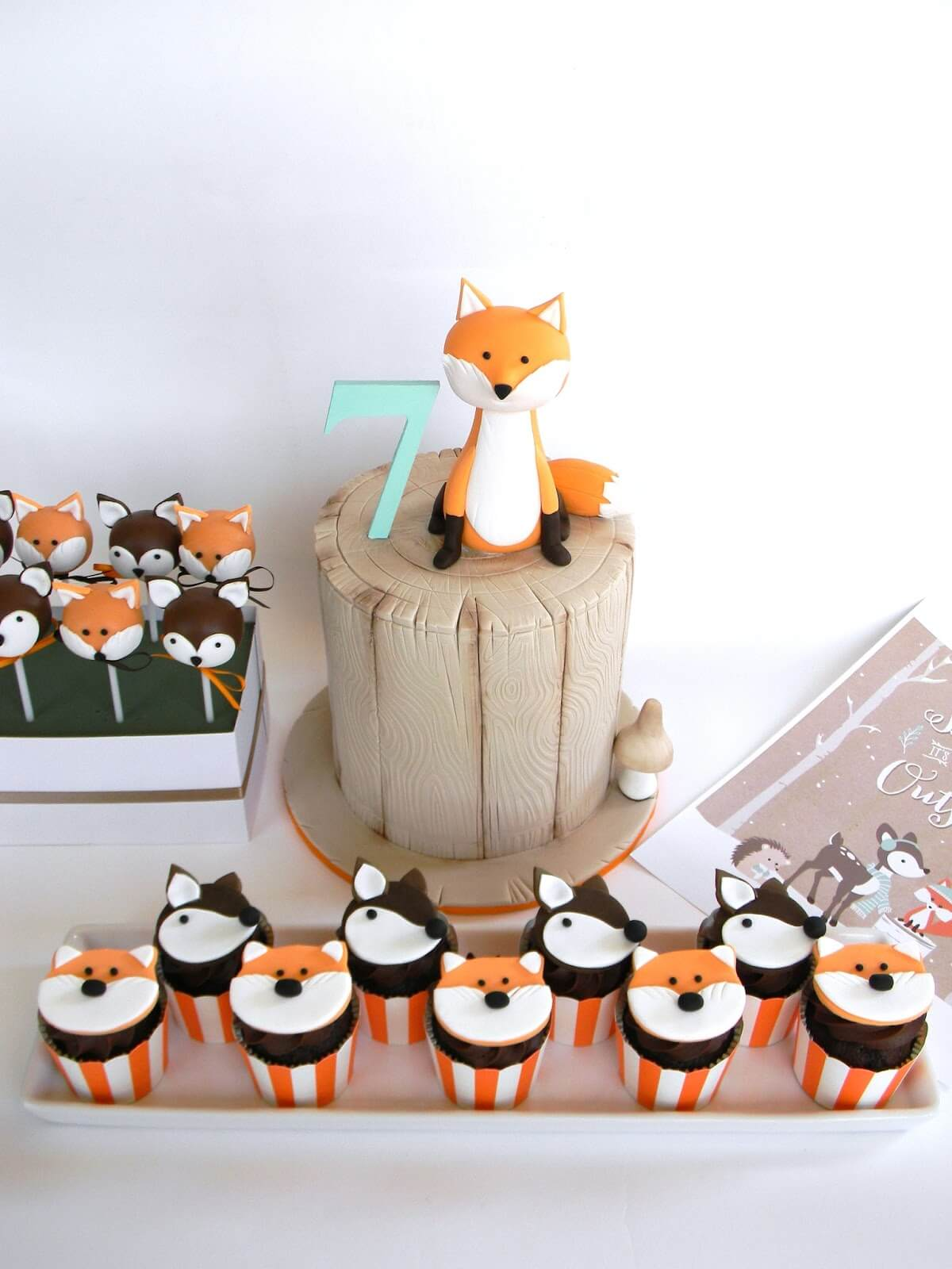 Woodland Themed Party Cakes