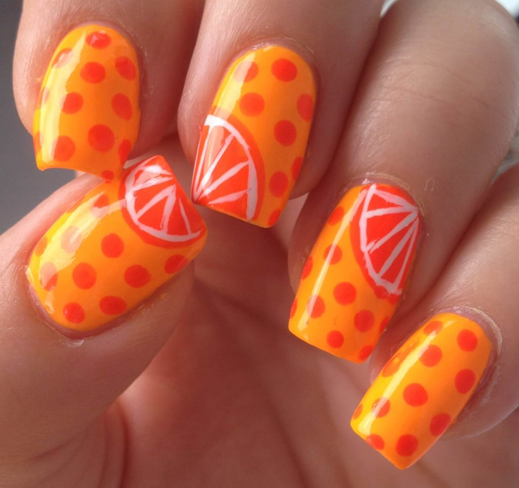 Citrus Squeeze nail designs 2018