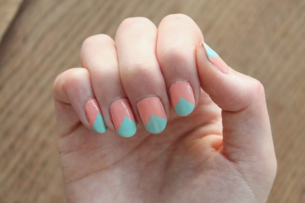 Color Blocked Subshine nail designs 2018
