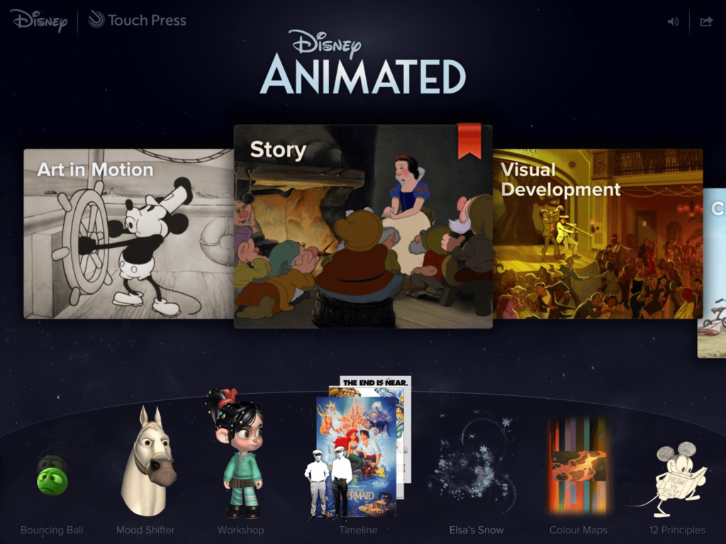 Disney Animated-Best iPad Games For 4 Year Olds