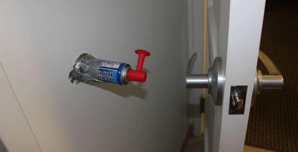 Install an Airhorn as a Door Wall Protector