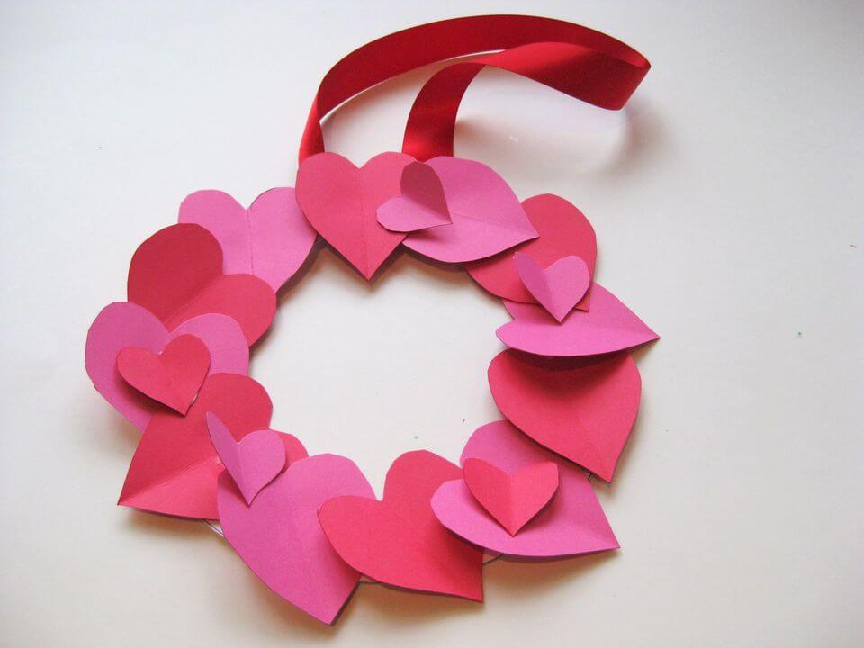 Love Heart Wreath diy paper crafts