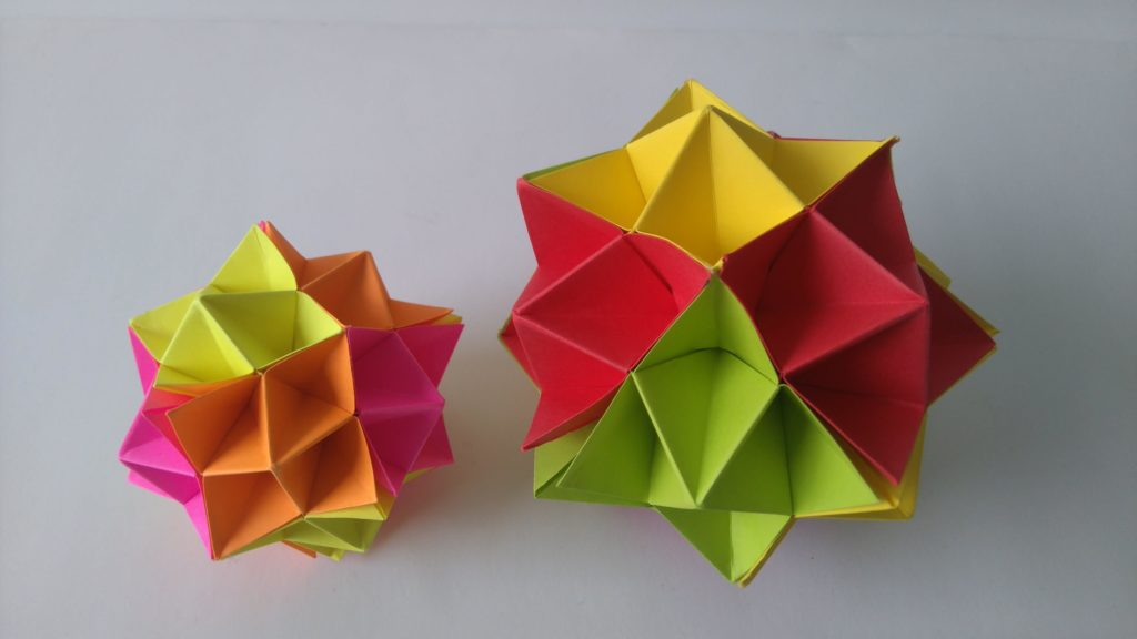 Origami Spike Ball diy paper crafts