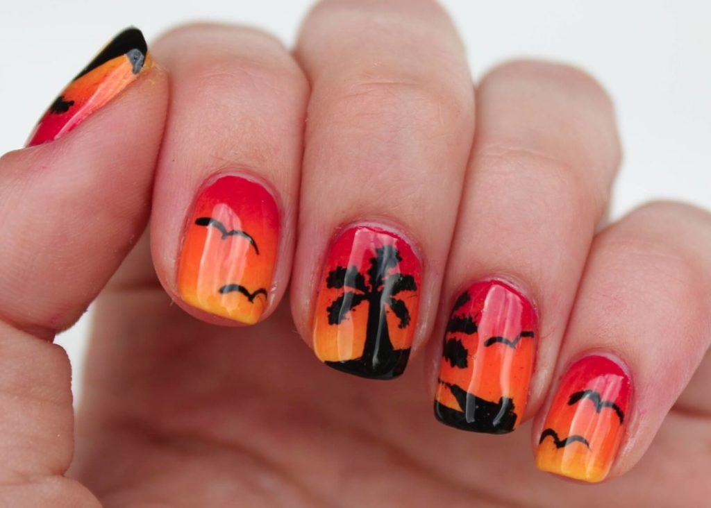 Palm Tree nail designs 2018
