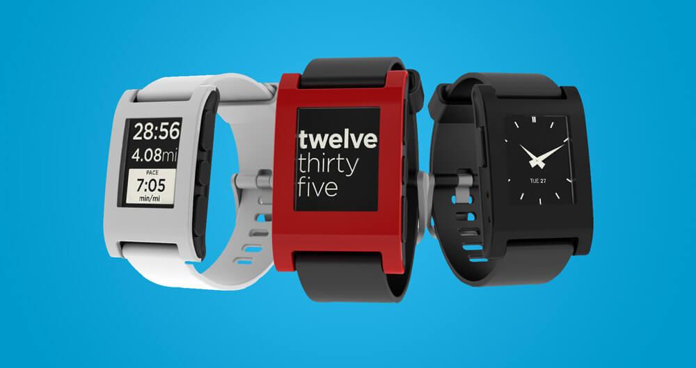 Pebble Watch For Smartphones-wearable gadgets 2018