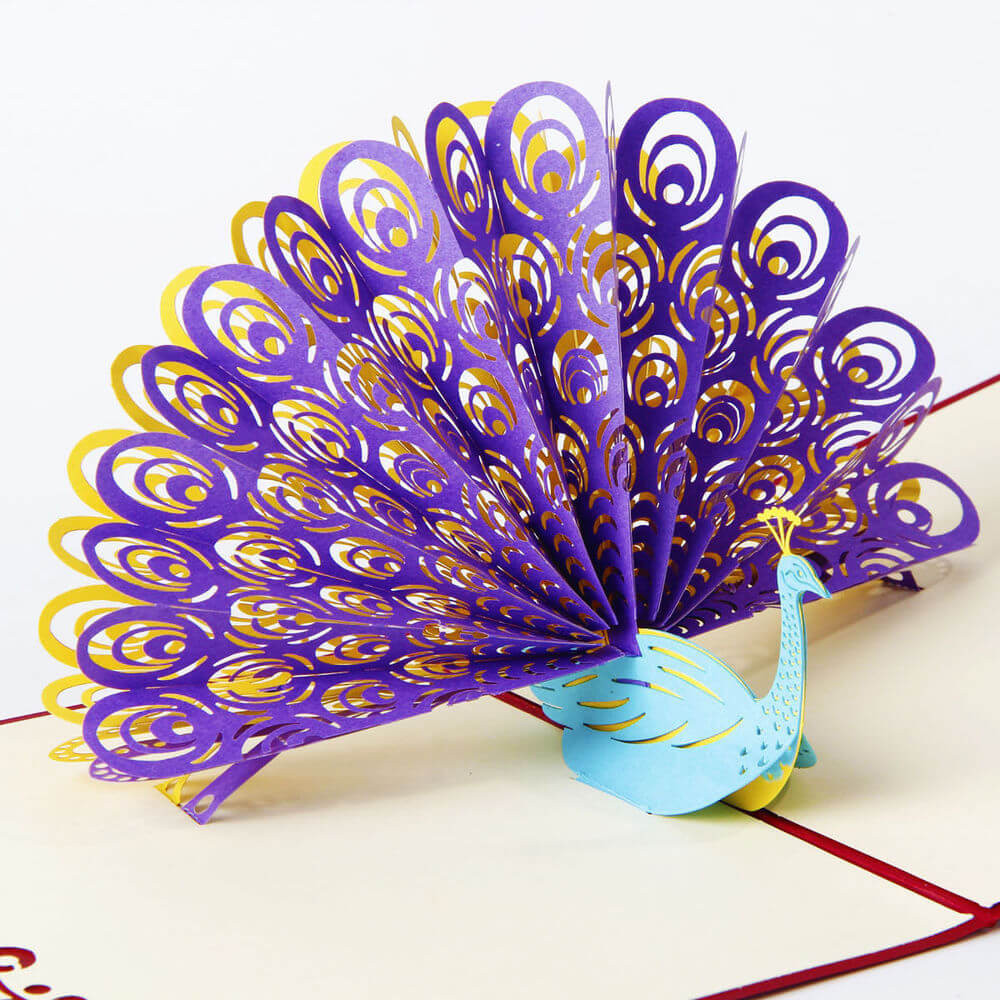 Pleated Peacock diy paper crafts