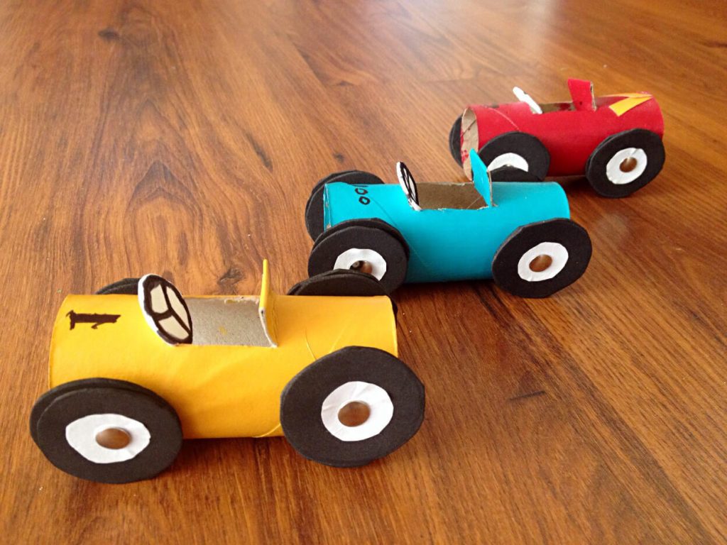 Racing Cars diy paper crafts