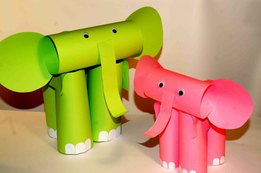 Roll An Elephant diy paper crafts