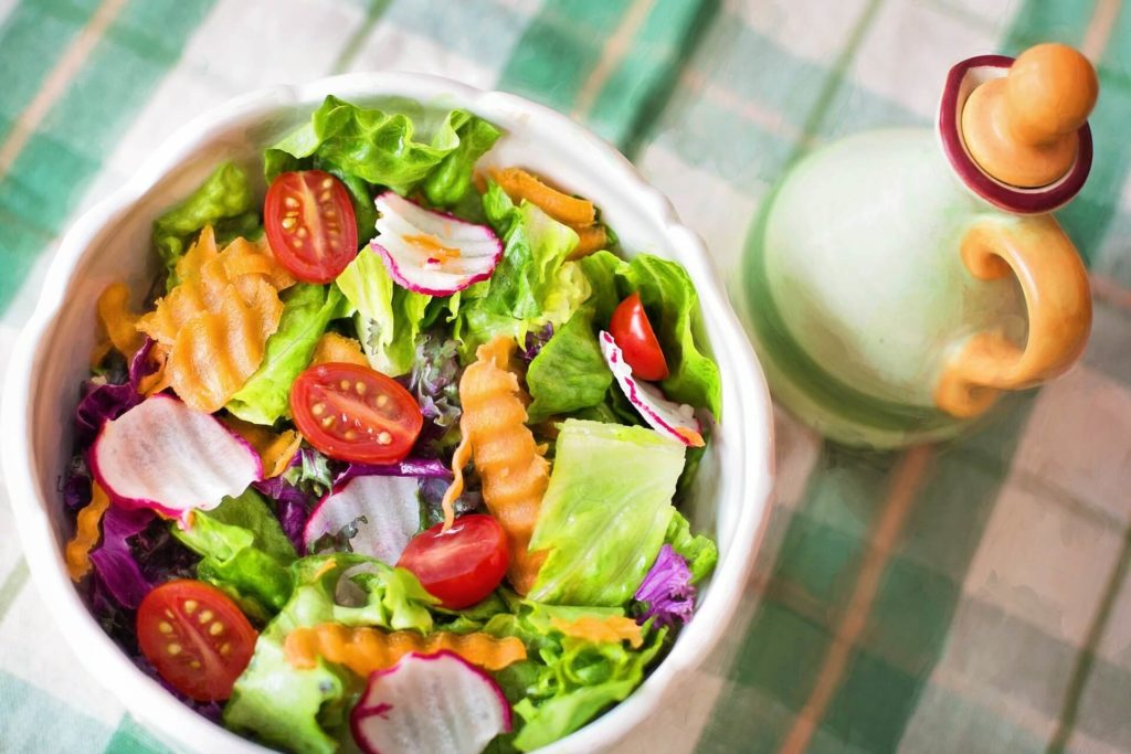 Salad with Bark, Leafy greens-summer vegetables in india