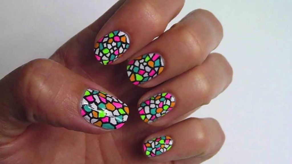 Stained Glass nail designs 2018
