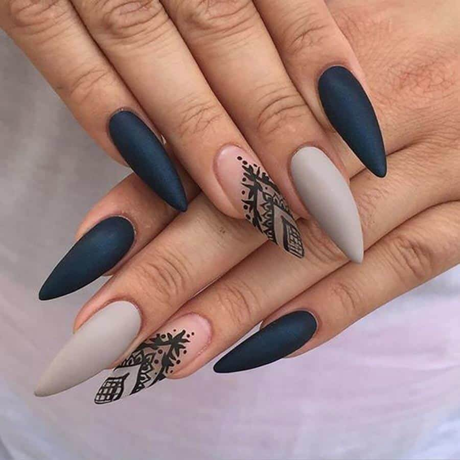 Stiletto nail designs 2018