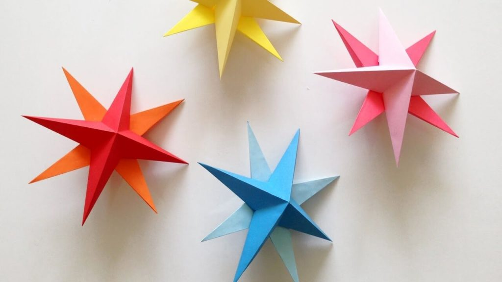 paper Christmas star diy paper crafts