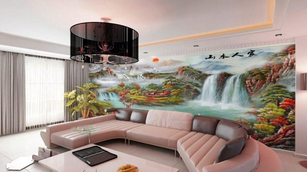 3D Mural Interior Decoration 3D wall paint