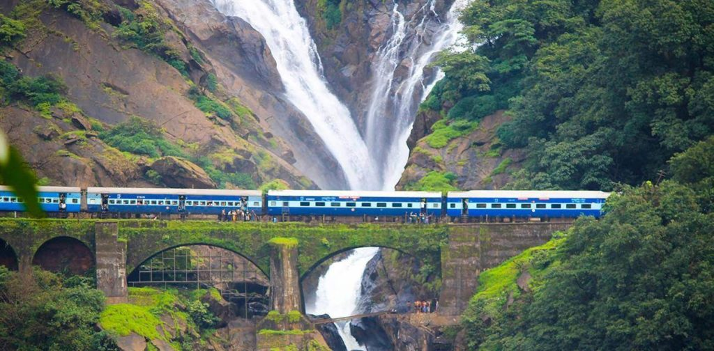 Dudhsagar Falls - tourist places in india