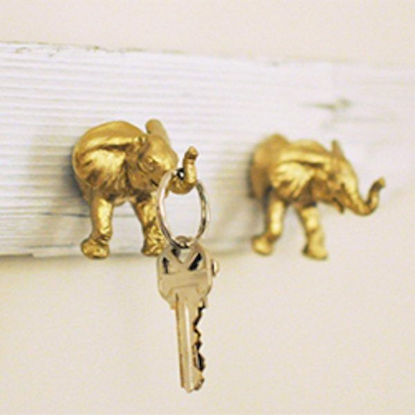 Golden elephant diy Key Holder design