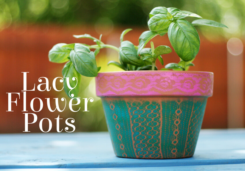 Paper Lace diy flower pot