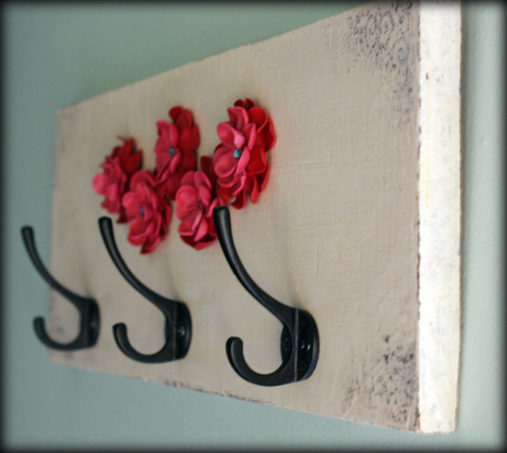Paper flower diy Key Holder