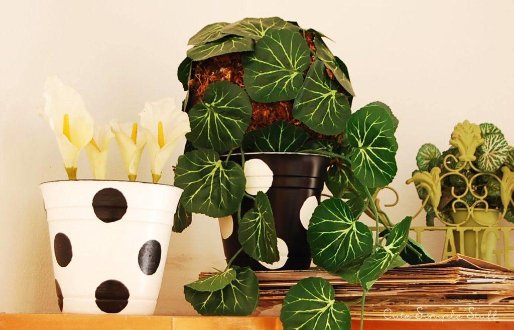 Polka Dot House diy flower pot