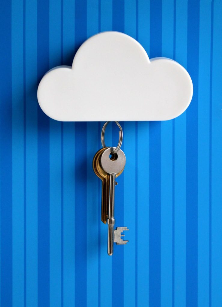 Simple sky blue wooden diy Key Holder