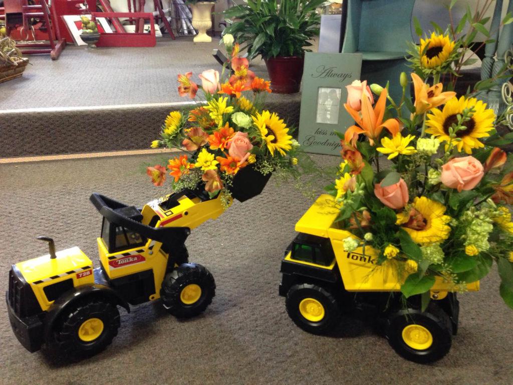 Toy Truck diy flower pot
