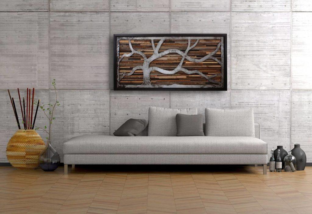 Wood wall paint