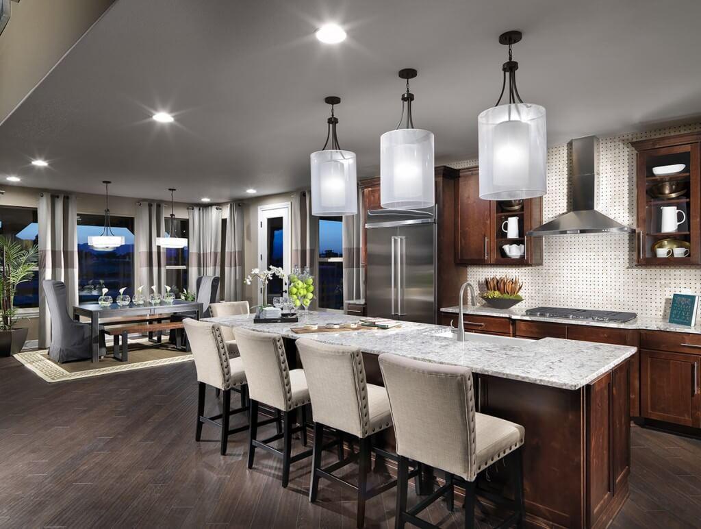 layered kitchen lighting