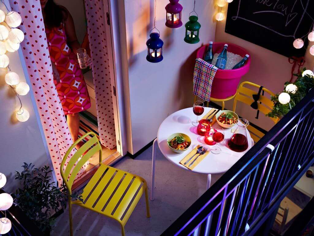 light up your small outdoor space