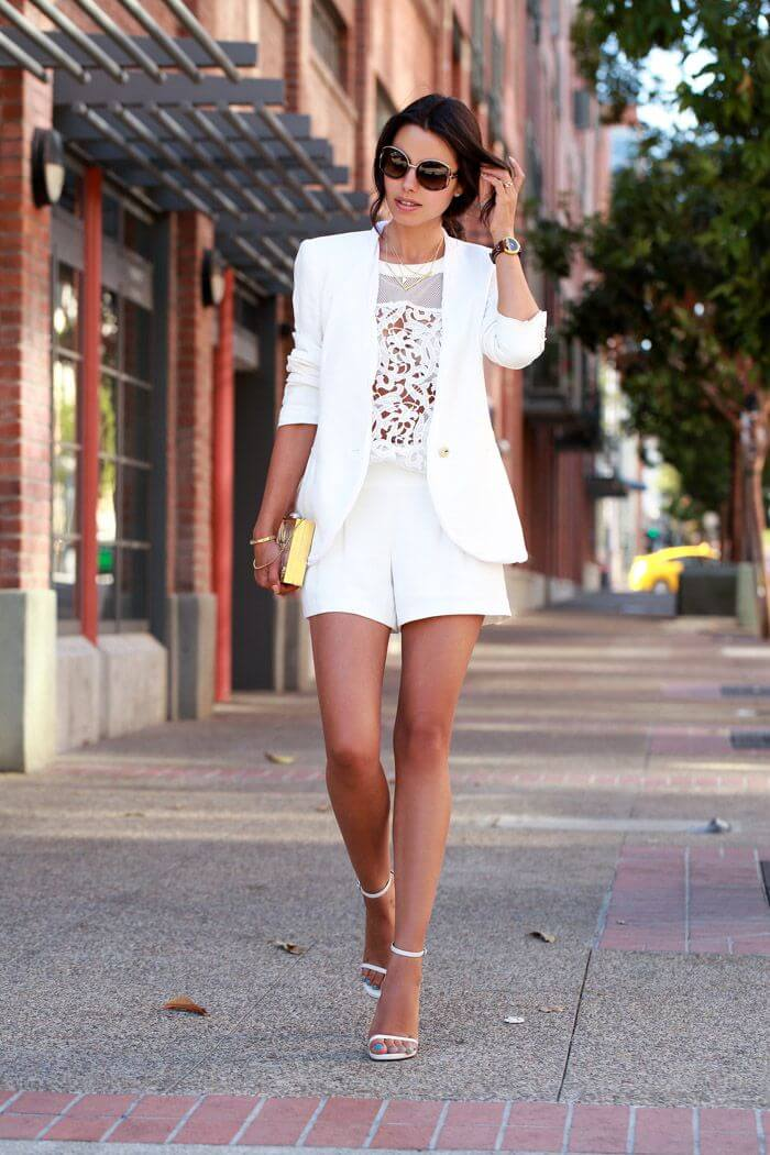white shorts outfit ideas