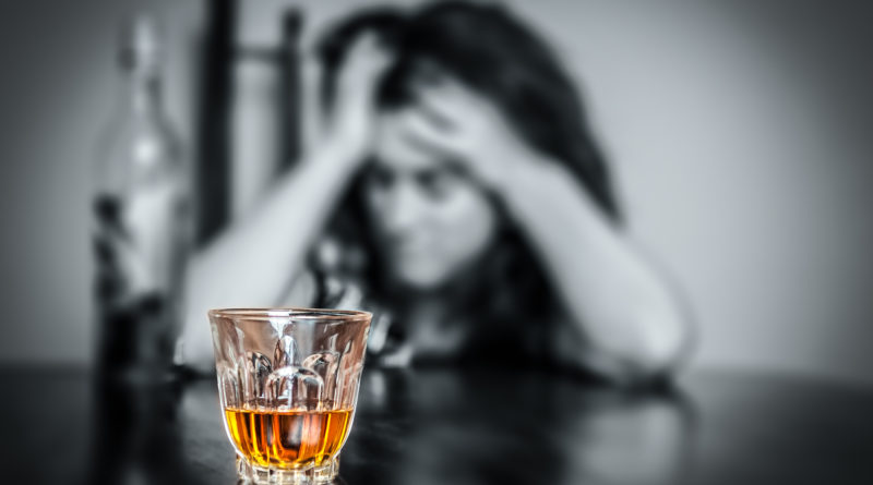 Alcohol addiction : Portrait of a lonely and desperate drunk his