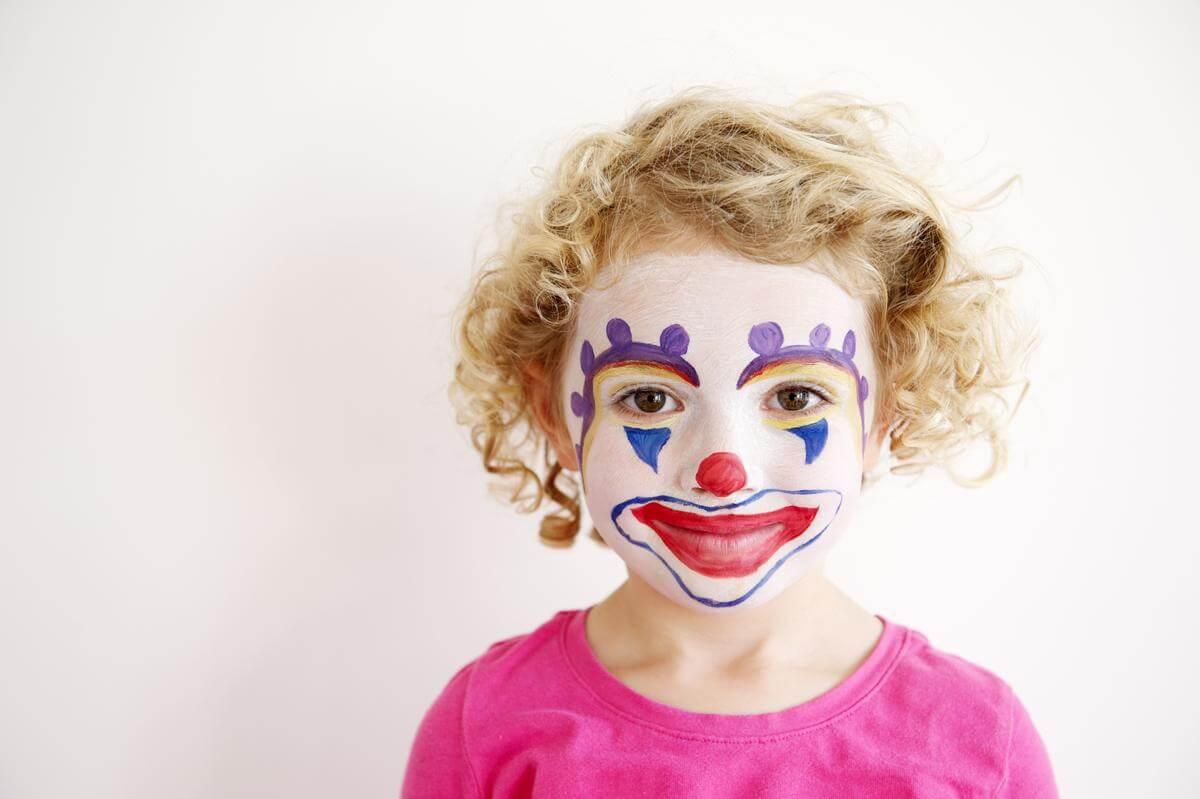 DIY Face Paint Ideas for Kids - Clown Face Paint