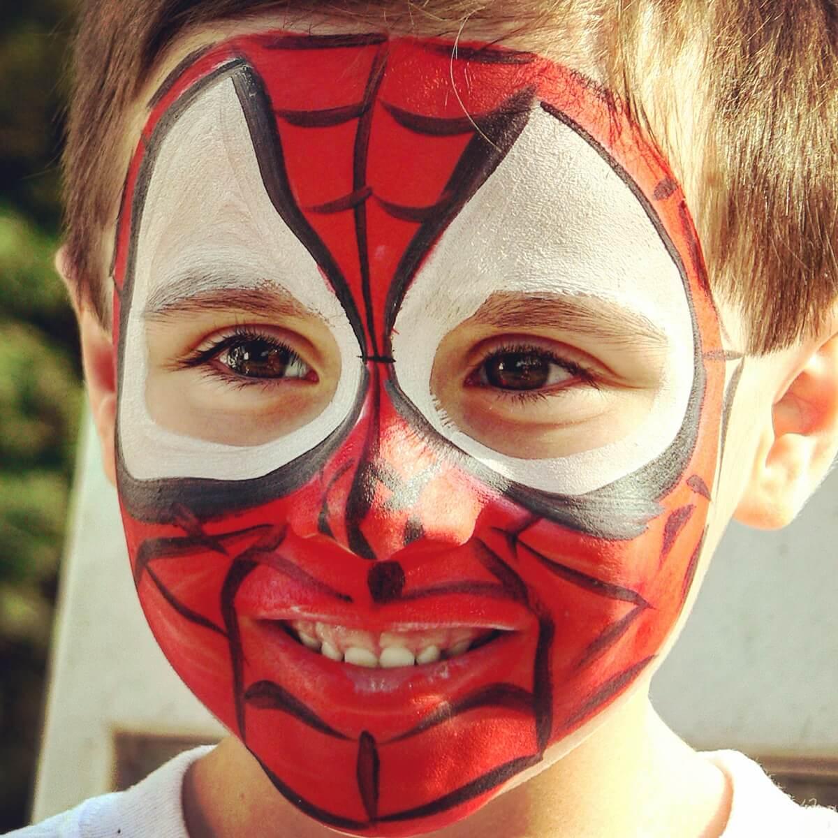 DIY Face Paint Ideas for Kids - Superhero Face Paint for Boys