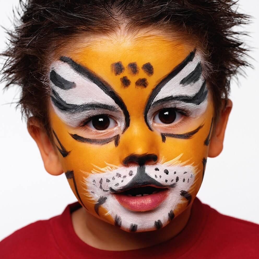 DIY Face Paint Ideas for Kids - Tiger Face Paint