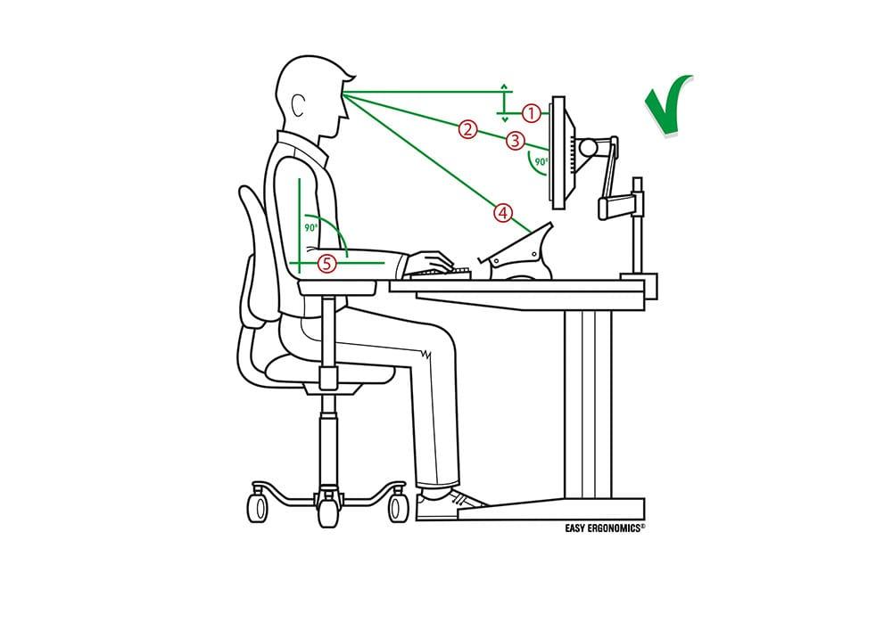 Monitor at Optimal Angle