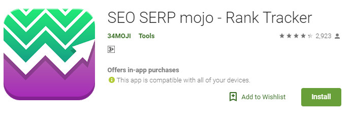 SEO SERP Mojo Rank Tracker