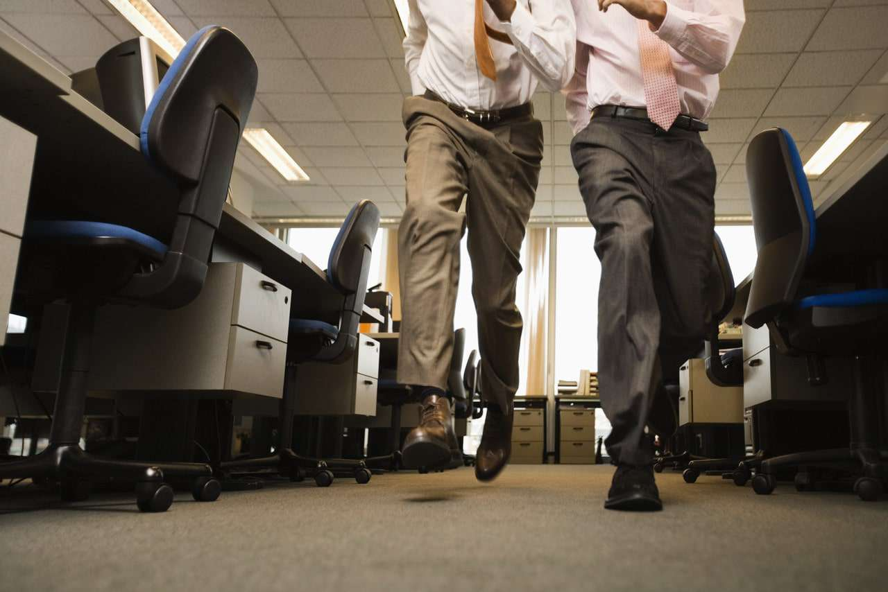 move around in office