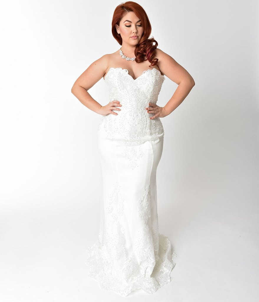 Chiffon Sheath Plus Size Wedding Dress