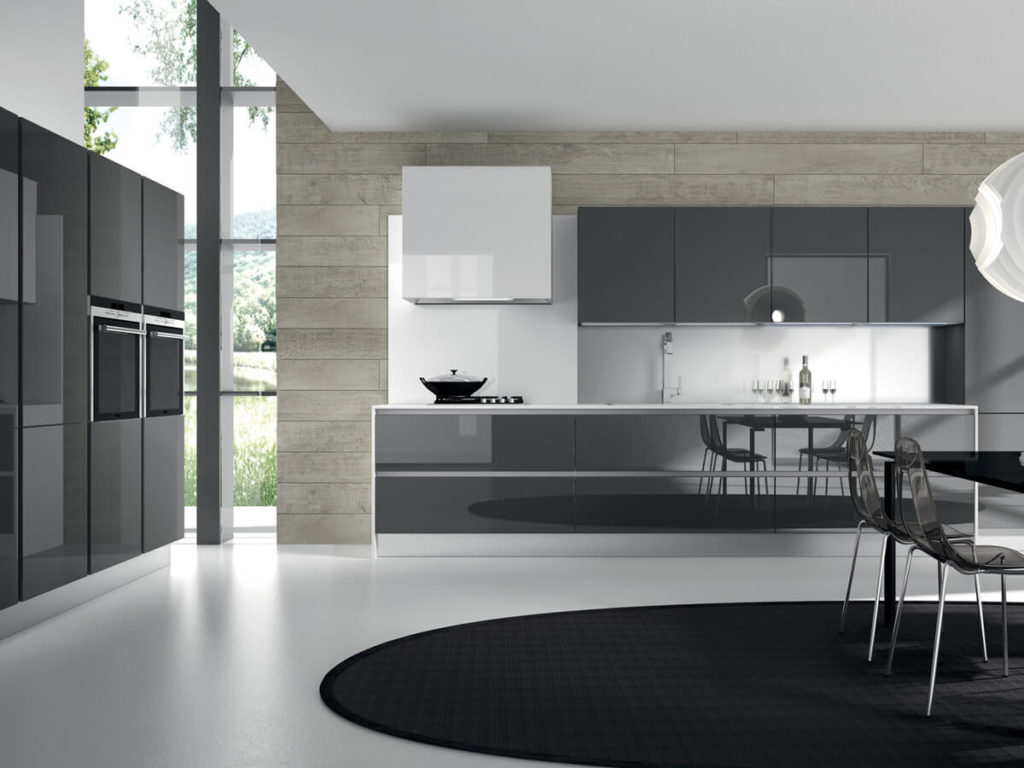 types of kitchen finishes - Glass