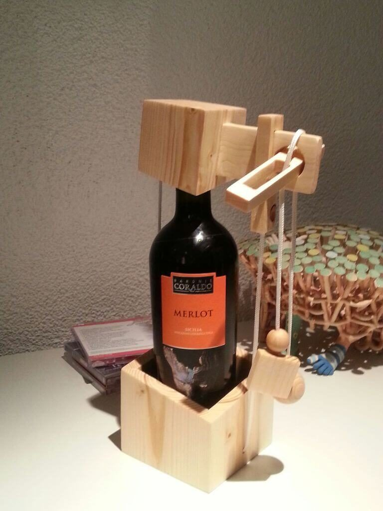 Brain Training Wooden Puzzles Increase Productivity - Wine Bottle Puzzle