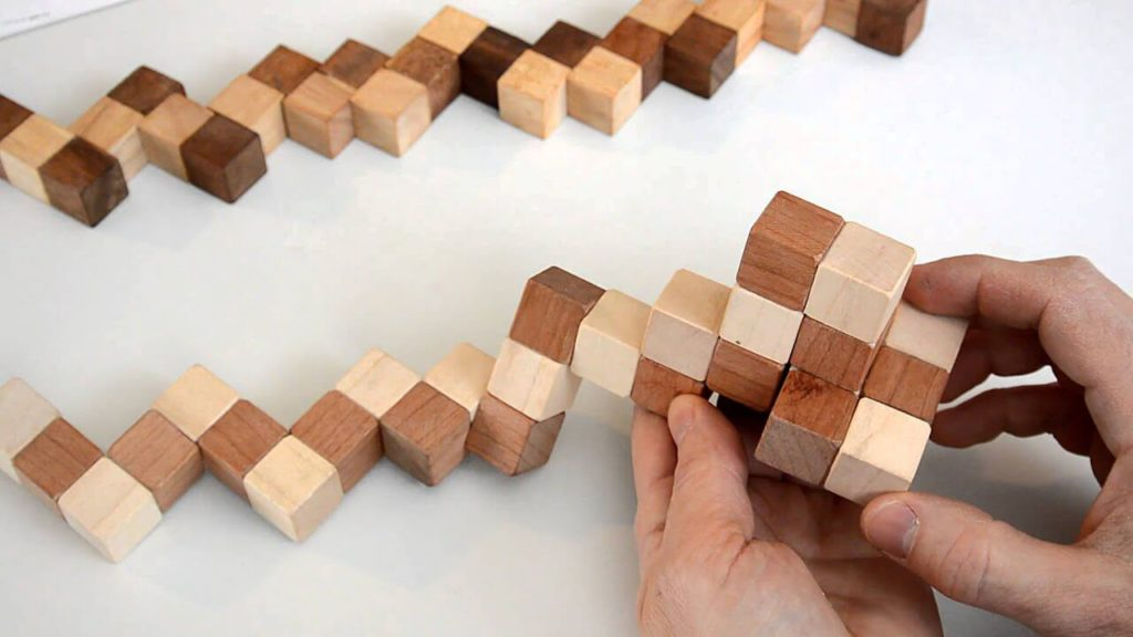 Brain Training Wooden Puzzles Increase Productivity - Serpent Cube