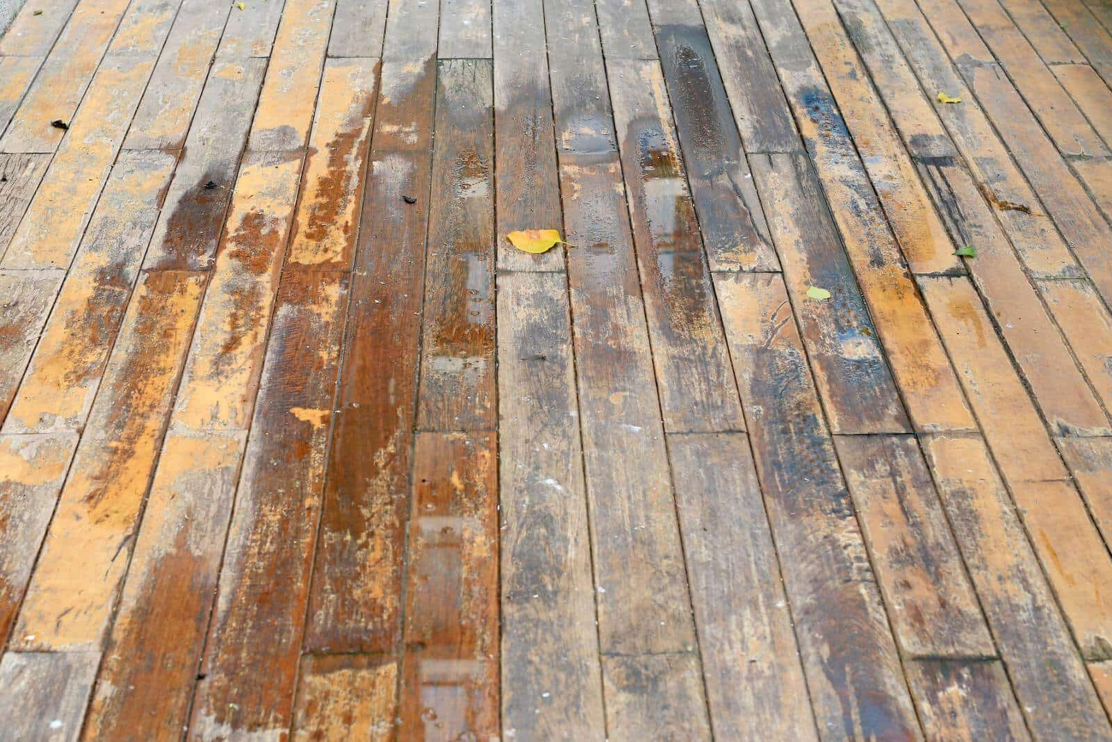 Deep Stains on wooden floor