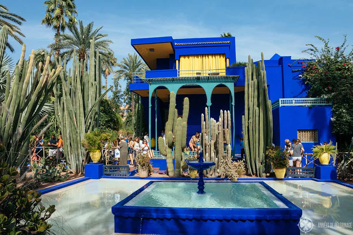 the Jardin Majorelle
